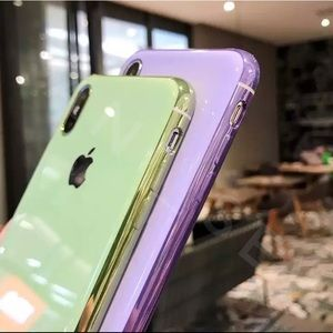 NEW Silicone Glossy Case iPhone XS,XR,XsMax Gold